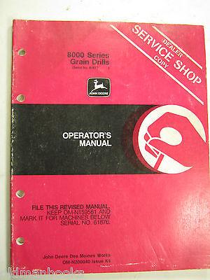 John Deere 8000 Series Grain Drills Omn200040 K4 Operators Manual