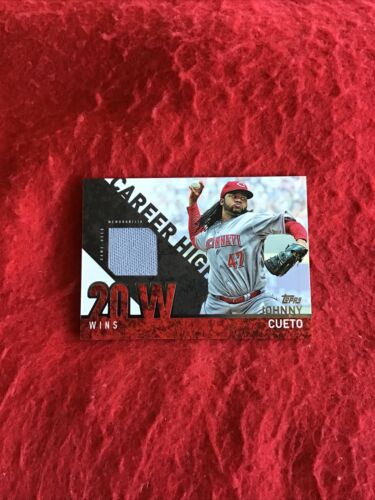2015 Topps Career High Baseball Game Used Jersey Johnny Cueto CRH-JC - $0.98