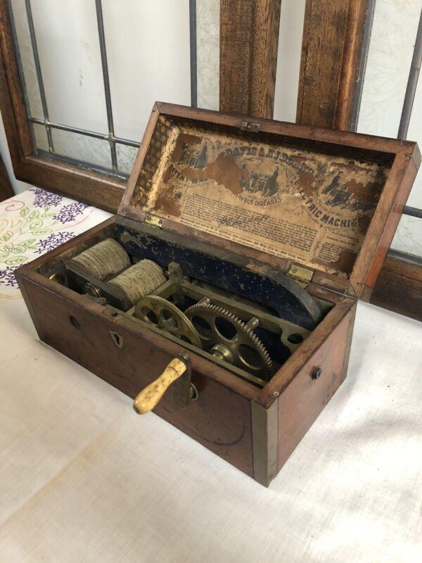 1854 Davis And Kidders Patent magneto Electric Machine