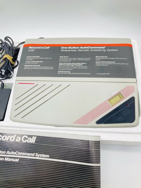 Record A Call Answering Machine System Auto 2100