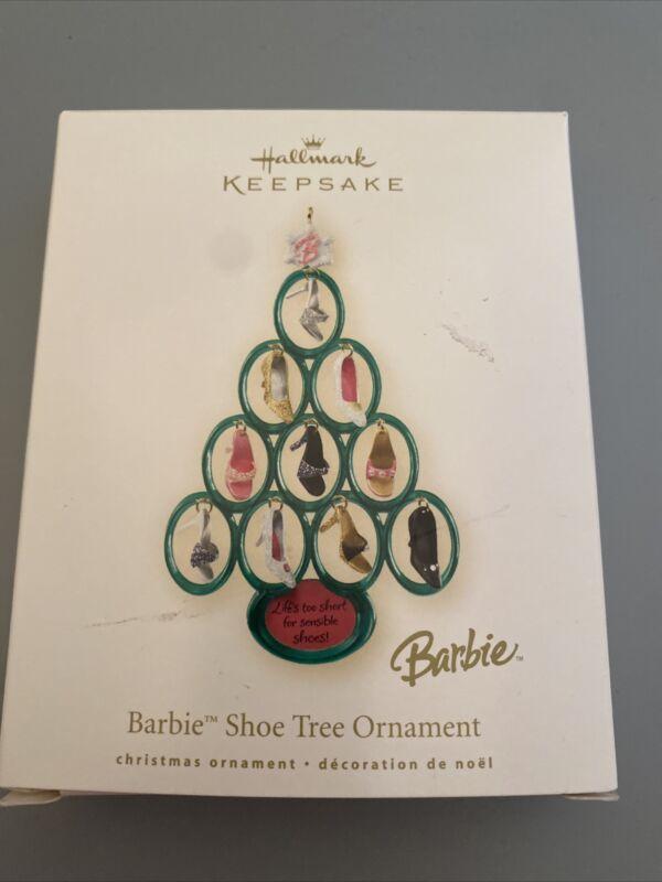 2008 Hallmark Christmas Ornament Barbie Shoe Tree High Heels New