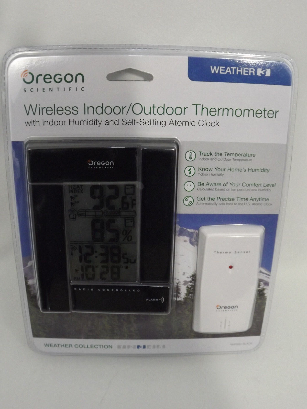 Oregon Scientific Indoor / Outdoor Wireless Thermometer RMR383 Black New
