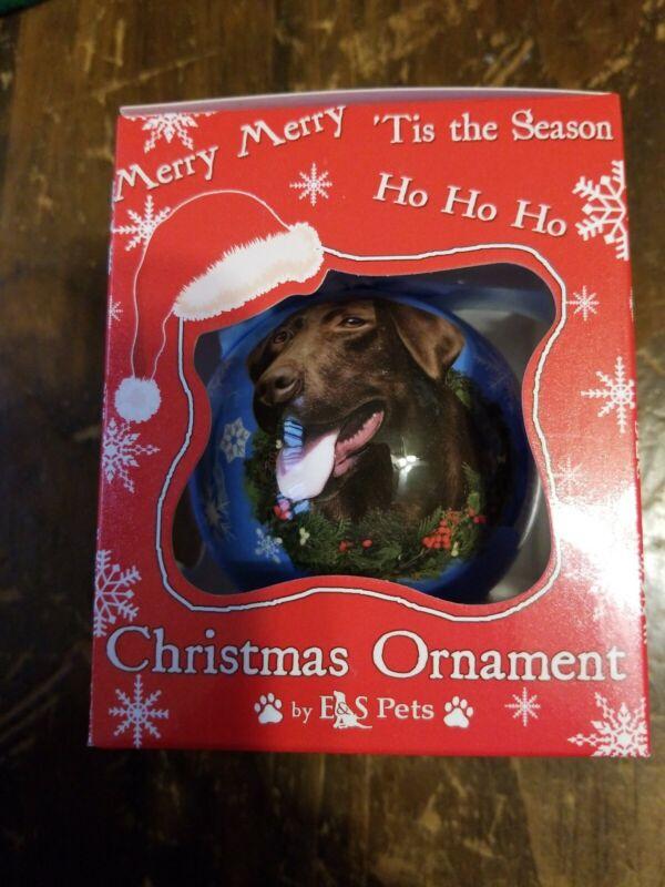 New Chocolate Lab Christmas Ornament