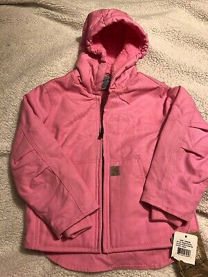 Girls Sherpa Lined Jacket (Carhartt Girls' Redwood Sherpa Lined Jacket Size XXS)