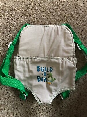 Build a Bear / Dino  Tan / Green Plush Stuff Animal Carrier