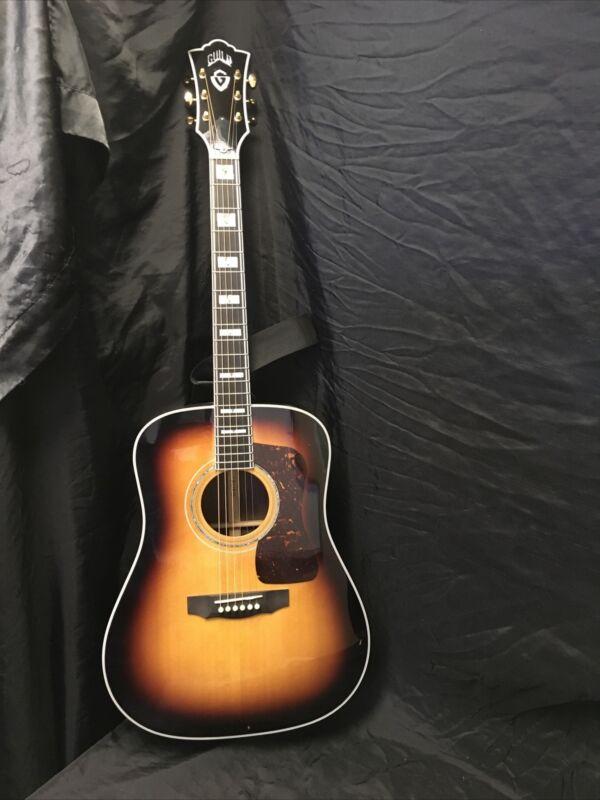 Guild D55 Acoustic Guitar W/ Hard Shell Case
