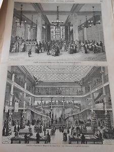 gravure 1872 paris les grands magasin du tapis rouge. Black Bedroom Furniture Sets. Home Design Ideas