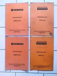 Howard Fräse Rotavator  Serie  EIV     Ersatzteilliste
