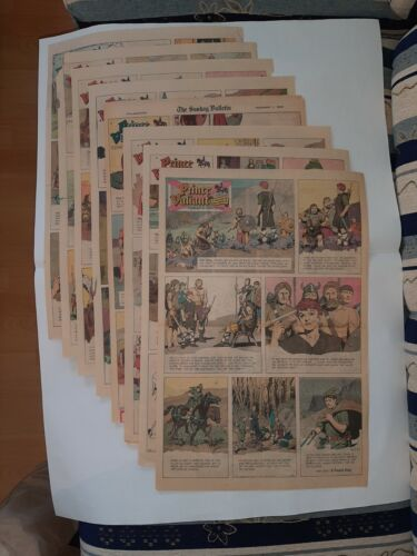 full year large panel 1963 sunday newspaper pages PRINCE VALIANT Harold Foster