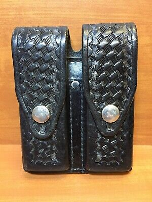 Tex Shoemaker 105 J Black Basketweave Single Speedloader Holder For J Frame Clip