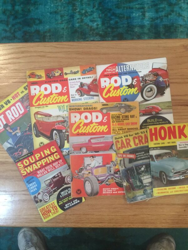 Seven (7) 1963 Hot Rod magazines
