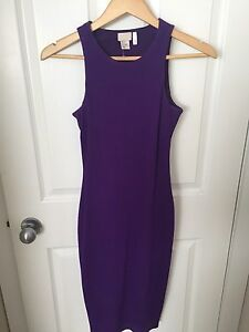 Purple fitted dress
