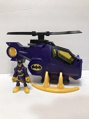 "Fisher-Price Imaginext DC Super Friends Batcopter Batgirl Helicopter & figure 3"""