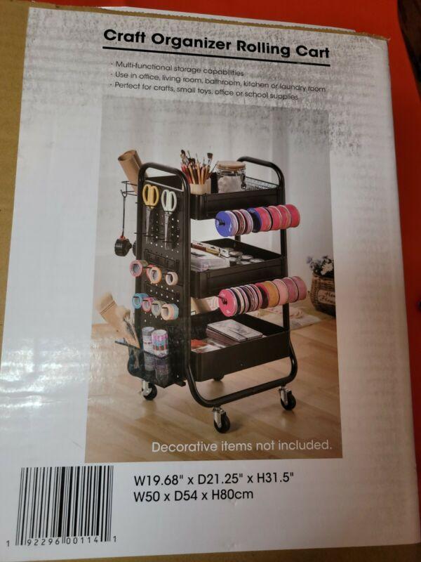 NEW METAL ROLLING CART CRAFT ORGANIZER Storage Art Craft , School Supplies