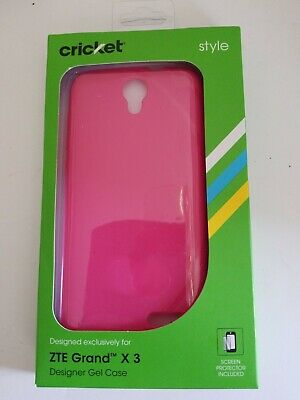 Took place for ZTE Grand X3 Cricket Two-Tone Kickstand Shield Cover & Screen Protector