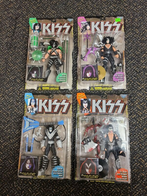 Kiss ultra action figures Lot Of 4 Packaging Variant Brand New NOS