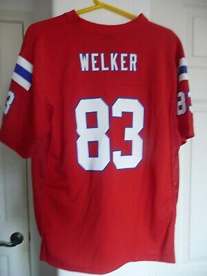 800fc297 New England Patriots Wes Welker NFL Team Apparel Jersey Youth XL Womens  Small