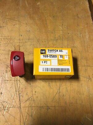 Caterpillar Cat 424b Backhoe Loader Hazard Lights Rocker Switch - 169-0589 - New