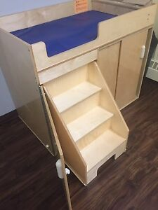 Changing table with stairs and storage