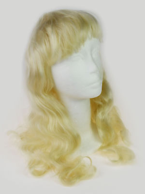 Perücke für Kinder Lang Gelockt Prinzessin Blond