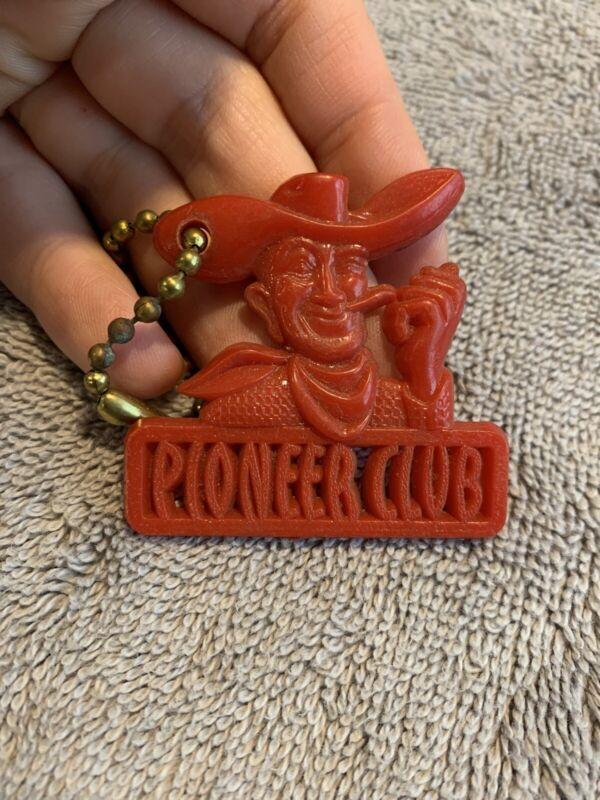 Vintage Pioneer Club Red Key Chain Downtown Las Vegas Nevada Casino Gambling