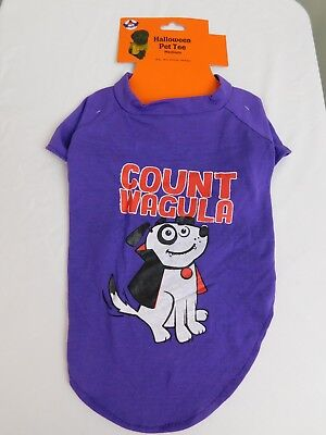 Count Wagula Dracula Vampire Halloween Dog Costume T-Shirt Medium #7431