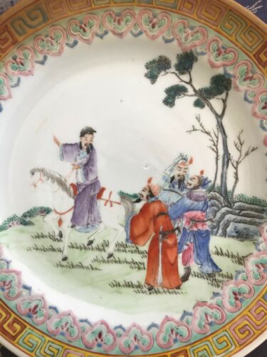 Nice Chinese Famille Rose Porcelain Plate Qianlong Mark Antique
