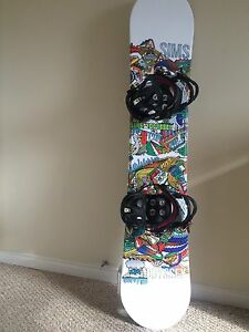 Sims Odyssey Snowboard With K2 Sonic Bindings!!!