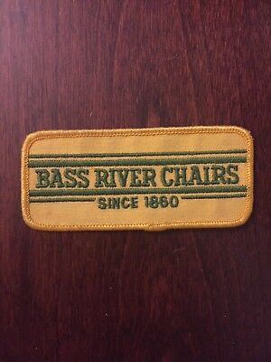 Kids Embroidered Chair (Vtg Bass River Chairs Sew On Embroidered Patch Nova Scotia Canada Furniture)