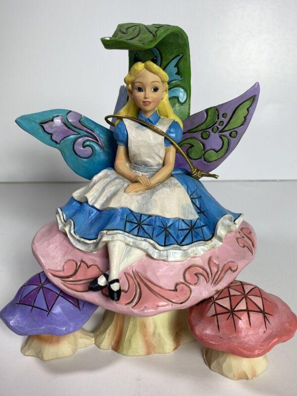 Jim Shore Disney Alice in Wonderland On Mushroom 4037506 With Box
