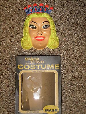 Vintage Ben Cooper Fairy Princess Halloween Mask + Box, Glow in Dark, no Costume