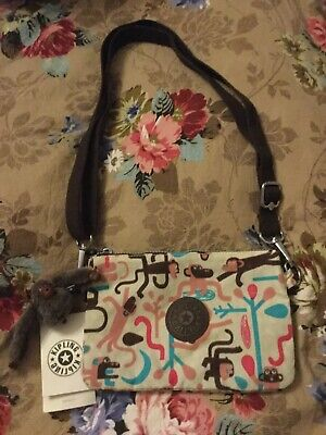 KIPLING SHOULDER BAG WITH MONKEY RARE PRINT NEW WITH TAGS.