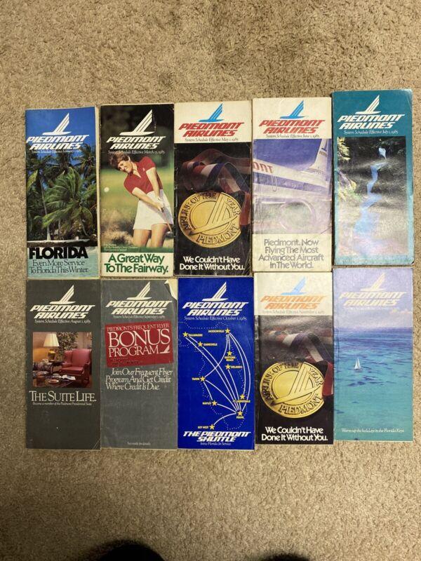 Vintage 1985 Piedmont Airlines System Schedules Lot