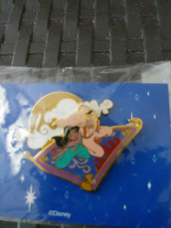 Disney Aladdin and Jasmine on Magic Carpet w/Moon Musical Cast Member Pin