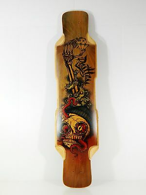Restless 9.5 x 39 Fishbowl Downhill/Freeride Twin-Tip Longboard Deck w/ Griptape