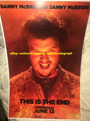 THIS IS THE END 2013 DANNY MCBRIDE SIGNED AUTO MOVIE POSTER 12x18 REPRINT RP