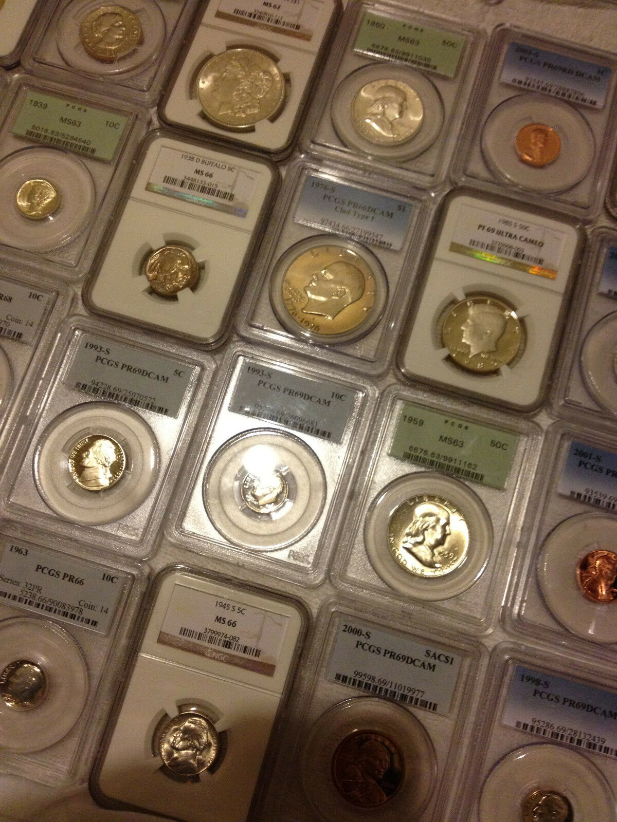 ✯ESTATE SALE OLD US COIN ✯ PCGS NGC GRADED ✯1 SLAB LOT✯ SILVER GOLD ✯ 10 YEARS+✯