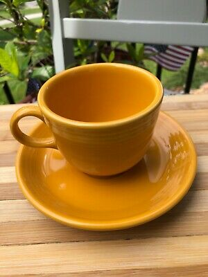 Marigold Saucer (FIESTAWARE MARIGOLD COFFEE or TEA CUP with SAUCER FIESTA LIMITED COLOR )