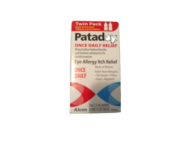 Alcon Pataday Eye Itch Relief Two 2.5 Ml Bottles