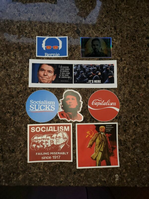 Lot 8 Bernie Sanders Socialism SUCKS Ronald Reagan Jordan Peterson AOC CCCP USSR