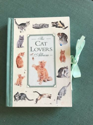 Cat Lover's Photo Album Burnes, Waverly, 1997 HB 6 double sided pages 18 photos