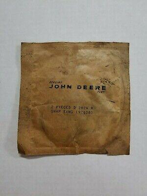 D2824r 92608 Snap Ring Set John Deere Tractor 2pc Oem Original