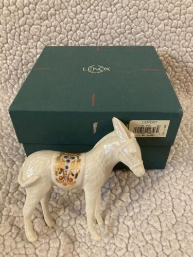 "Lenox China Jewels Nativity Figurine Donkey 4 3/4"" In Box"
