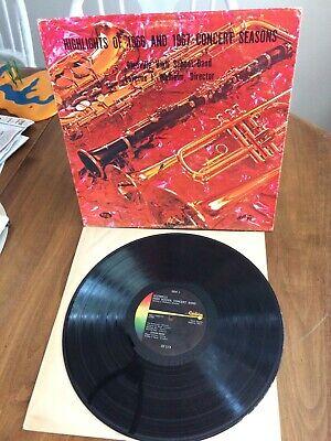 Glenville High School Minnesota Band 1966-1967 Vinyl LP Record Concert Rare