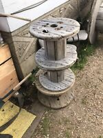 """Wire spool small and large 19""""-72"""" Repurposed"""
