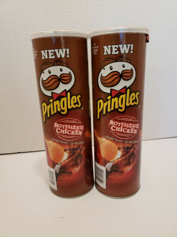 2 Pringles Rotisserie Chicken Flavored Potato Crisps LIMITED EDITION 5.5oz