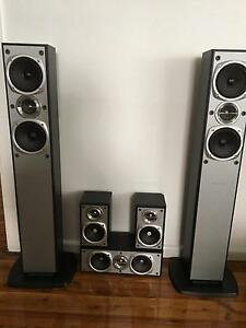JVC Speakers x 5 Corrimal Wollongong Area Preview