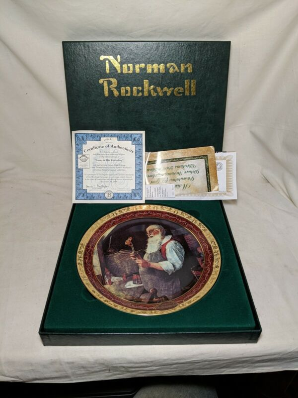 Rare Norman Rockwell Santa In His Workshop Collector