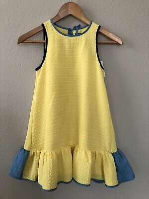 NWT Victoria Beckham For Target Yellow Blue Dress Size M