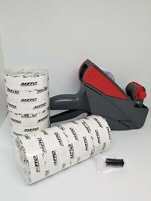 Price Label Gun Meto 5s.26 1 Line Box White Labels Ink Roller Value Pack